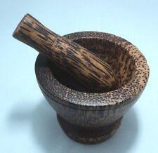 Small Mortar and Pestles Thai Natural Wooden Handcraft Vintage Souvenir Gift
