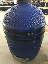 "YNNI KAMADO 15.7"" Limited Edition BLUE Oven BBQ Grill Egg with Stand TQ0015BU"
