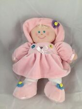 "KIDS PREFERRED 12"" Stuffed PINK Plush First BABY DOLL Hat Butterfly Flowers"