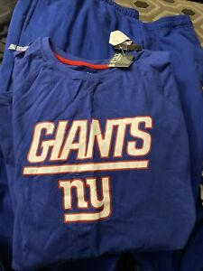 NFL New York Giants Men's Fleece Pants And Long Sleeve Shirt Big & Tall 4XL