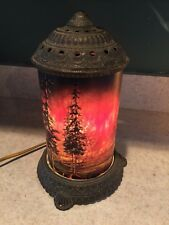 Antique Scene-In-Action Corp Motion Lamp Forest Fire Scene