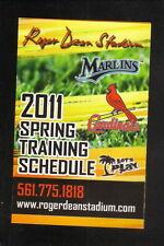Florida Marlins & St Louis Cardinals--2011 Spring Training Schedule--Comcast