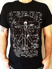 Walking Vitruvian Dead t shirt Undead Zombie parody funny tee  S - 3xl black