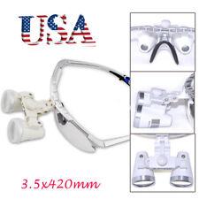 Fast Us Dental Surgical Medical Binocular Loupes 35x 420mm Optical Glass Loupe