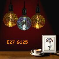 3D Fireworks E27 G125 LED Retro Vintage Edison Glass Fairy Light Bulb Lamp Decor