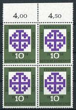 Bund 314 w postfrisch Viererblock Oberrand BRD Kirchentag 1959 MNH