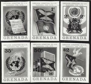 Grenada #621-26 1974 Admission to the UN composite photographic proof
