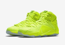 Nike Lebron James XII EXT SZ 12 Volt Tennis Ball Black SP PRM Neon 748861-700