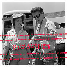 ELVIS PRESLEY 1962 8x10 Photo FOLLOW THAT DREAM with ANN HELM in Sunglasses