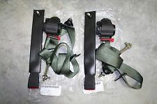 (2) OD GREEN 3 POINT SEATBELTS MILITARY M800 M900 M35A2 M35A3 HMMWV MRAP LMTV