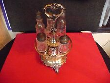 VICTORIAN JAMES DIXON & SONS SHEFFIELD ENGLAND CASTOR CRUET SET STAND
