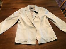 TALBOTS Off White Womens 14 lined JACKET Business Casual NWT NEW LOOK Blazer