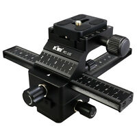 KIWI 4 Way Macro Focusing Rail Slider Set For Photography Nikon Canon SLR Camera