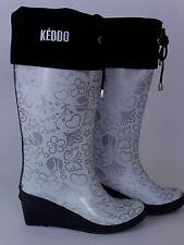 womens Keddo wedge print wellie boots fleece inside size 37 wellies outdoor