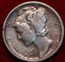 1918-S San Francisco Mint Silver Mercury Dime