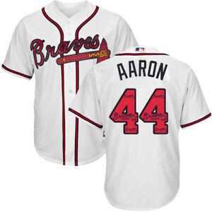 Atlanta Braves #44 Hank Aaron Fanmade White Baseball Jersey Size XS-4XL