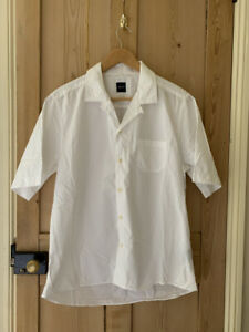 Albam short sleeve camp collar shirt medium white