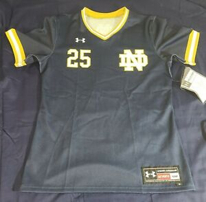 Under Armour Notre Dame V-Neck Softball Jersey Women's S Navy New Sample