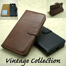LUXURY VINTAGE LEATHER WALLET STAND CASE COVER FOR HTC 10 NOKIA 550 NOKIA 650