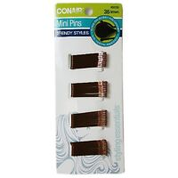 Conair Styling Essentials Secure Hold Mini Bobby Pins, Brown 36 ea (Pack of 2)