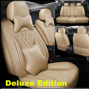 Luxury Leather Seat Covers Front Rear Full Set For Car Interior Accessories