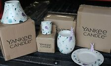 Yankee Candle SPLASH OF SPRING Lot Jar Holder, Candle Tray, V/H and Tart Warmer!