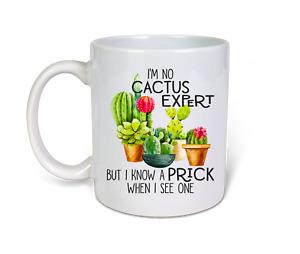 im no cactus expert but i know a prick  Funny cheeky Novelty 11oz Coffee Mug