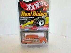 MATTEL 9100 HOT WHEELS REAL RIDERS PURPLE PASSION WOODIE CAR LTD  NEW LotD