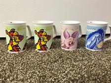 Lot of 4 Disney Mugs Cups Tigger Eeyore Piglet