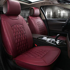 5-Seats All Car Front Rear Seat Mat Cushion PU Leather Chair Cover Protector BMG