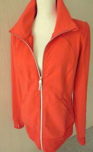 $128 LULULEMON CONTEMPO JACKET Love Red - Neon Orange SZ 10 M L W4B26S Low Hip