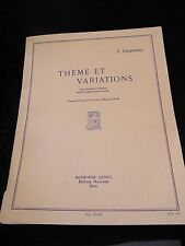 Partition Theme And Variations Timpani/Thimbles Batts Y Desportes Music Sheet