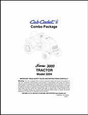 Cub Cadet  Model No.3204 Manuals COMBO Package