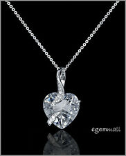 Sterling Silver Necklace with CZ Heart Pendant #90018