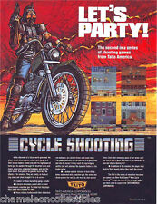 CYCLE SHOOTING NY CAPTOR By TAITO 1986 NOS VIDEO ARCADE GAME MACHINE SALES FLYER