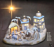 Ceramic Bisque Bethlehem Christmas Village Scene Light Scioto 785 Ready To Paint