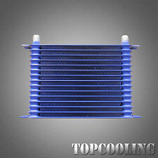 Blue 15 Row AN-10AN Engine Transmission Racing Oil Cooler Aluminum