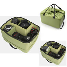 Waterproof Camera Insert Partition Padded Bag Divider Handle Protect Case Green