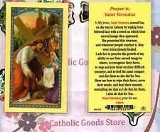 St. Veronica with Prayer to Saint Veronica - Laminated  Holy Card