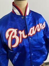 Vintage Atlanta Braves 1980s Starter Jacket Men's Size s Satin Blue MLB Baseball