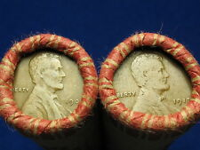@ SHOTGUN ROLL FULL OF 1909-1919 PDS MIXED TEEN LINCOLN WHEAT CENT PENNY COINS @