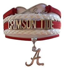 Alabama Crimson Tide College University Infinity Bracelet Jewelry Wristband