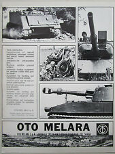 3/1975 PUB OTO MELARA LA SPEZIA CHAR M 113 TANK ARMAMENT ARTILLERY  ORIGINAL AD