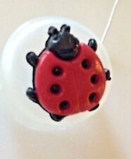 "JHB BUTTONS- PINK LADYBUGS--SHANK--3/4""--- 10 PIECES"