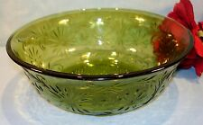 Indiana Daisy Avocado Green Large Berry Bowl 7 1/2 inch
