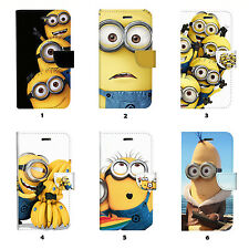 Minions Flip Wallet Case Cover for Samsung Galaxy S3 4 5 6 7 8 Edge Note Plus