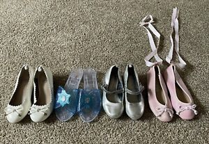 Lot of 4 Pairs Kids Dress Up/Play Shoes Sizes 9 and 10