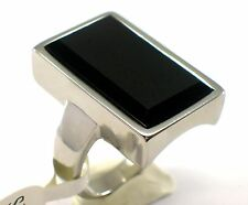 Damen Ring Schwarz Onyx Edelstahl Ring  Gr. 55 (17,5 mm Ø); 18,3; 19,9 mm
