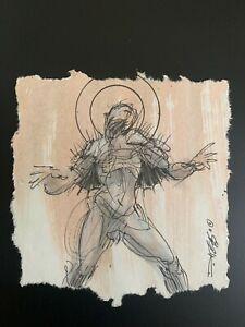 Derek Hess 'untitled' Original Pen/Ink on Watercolor 10_17_2011