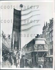 1953 Coronation Decoration on Busy Oxford Street London England Press Photo